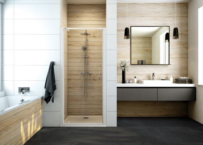 Sprchové dveře do niky otočné Sanplast DJ/BASIC-90, bílá EW, sklo čiré