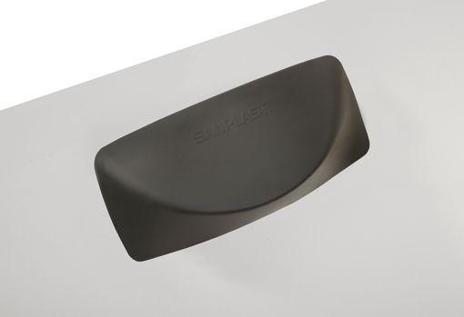 Sanplast Gelová opěrka hlavy 250x110mm, černá (661-A0029-43)