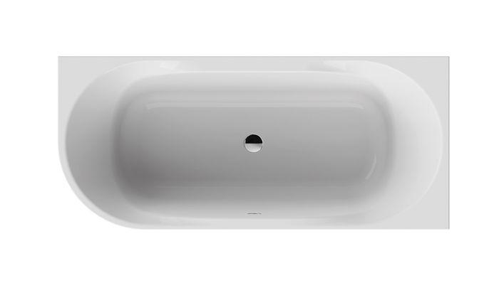 Obdélníková vana se zaobleným rohem vč. panelu 180x80 Sanplast WAL(P)/LOFT, pravá
