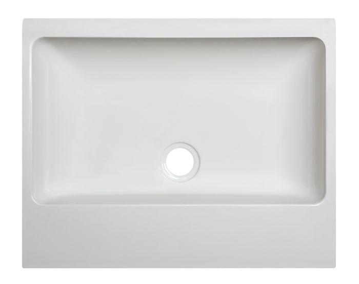 Umyvadlo litý mramor Unbo-M/FREE 55x45x8 cm, bílá EW, Sanplast