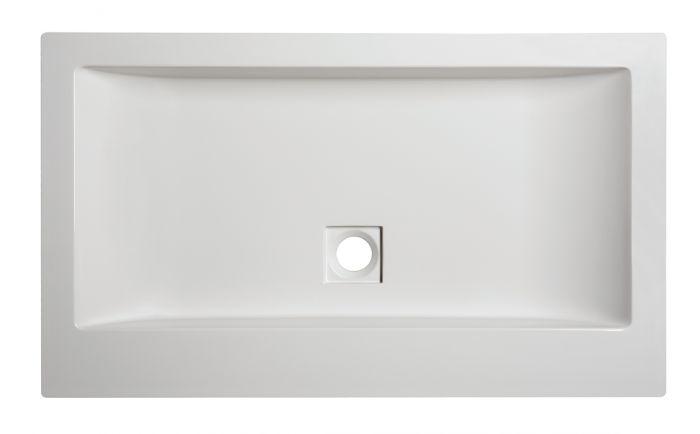 Umyvadlo litý mramor Unb-M/SPACE 60x47x8 cm, bílá EW, Sanplast