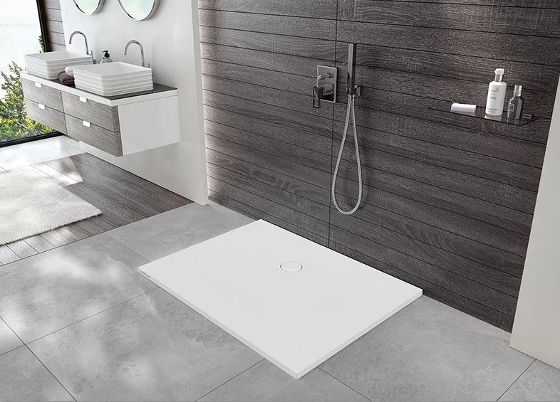 Sprchová vanička, litý mramor, Sanplast B-M/OPEN STR 75x140x1,5 cm, kámen šedý