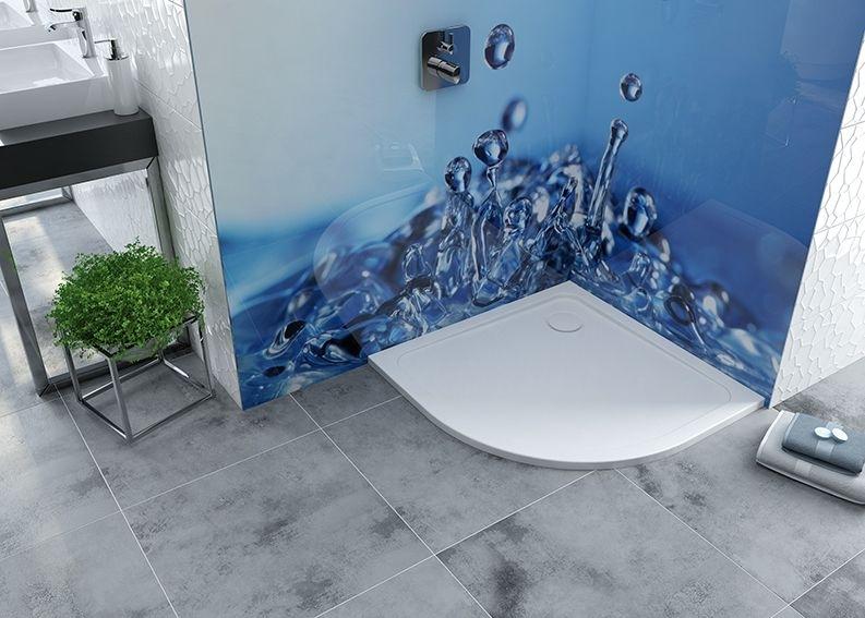 Sprchová vanička čtvrtkruh akrylát, R550 Sanplast BP/FREE 100x100x2,5cm+STB bílá