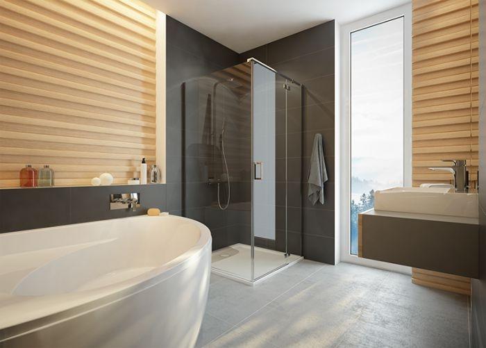 Sprchový kout čtverec Sanpalst KNDJ2/FREEII-90, chrom/stříbro bl, sklo čiré